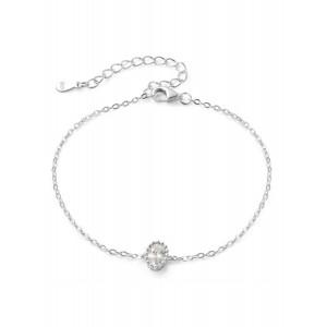 Oval CZ Bracelet Silver