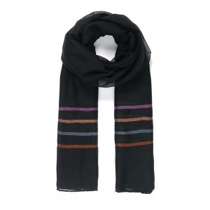 Black stripy scarf