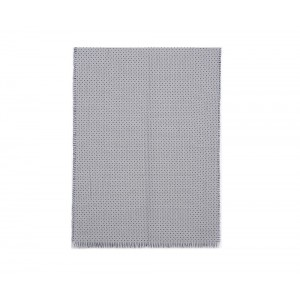 Grey reversible knitted scarf