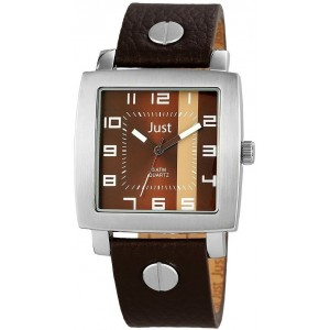 JUST Brown Leather Strap 48-S10445-BR