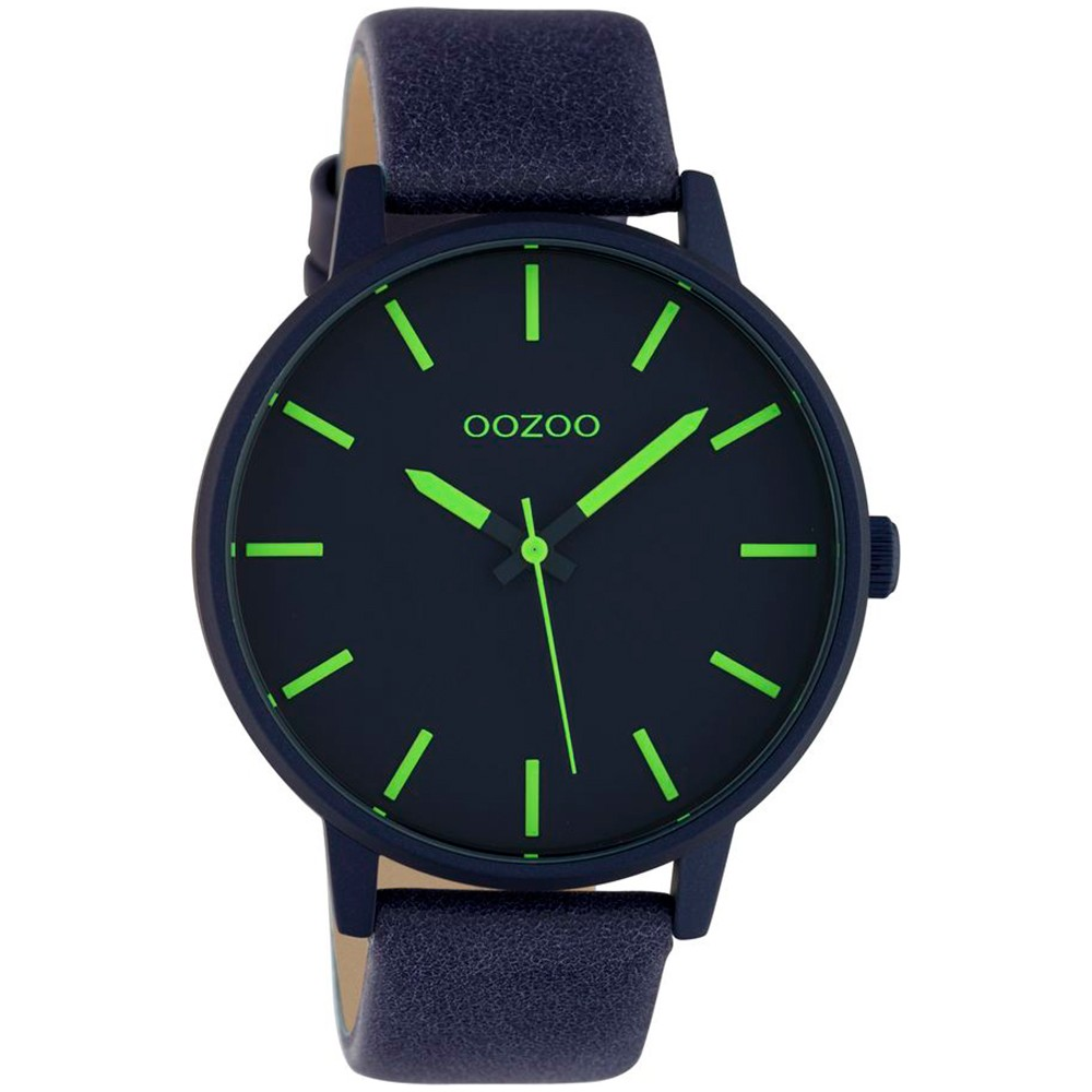 OOZOO Timepieces XL Women's Blue Leather Strap C10382