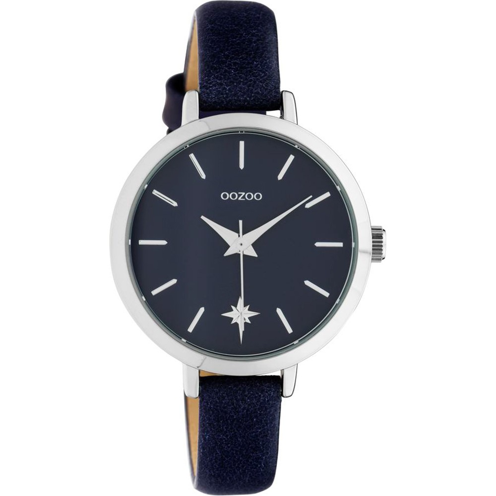 OOZOO Timepieces Women's Blue Leather Strap C10388