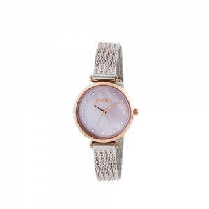 OXETTE ROYAL WOMEN'S WATCH Silver & Rose Gold Stainless Steel Bracelet 11X05-00583