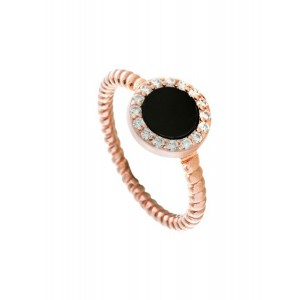 OXETTE AURORA GIFTING Ladies Ring Silver 925 Rose Gold plated 04X05-01493