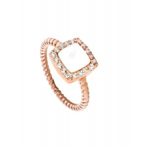 OXETTE AURORA GIFTING Ladies Ring Silver 925 Rose Gold plated 04X05-01494