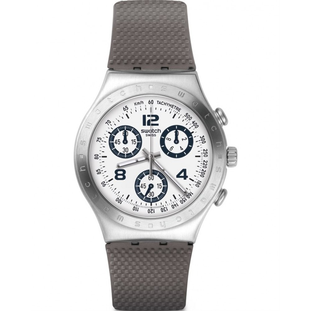 SWATCH CLASSYLICIOUS Chronograph Grey Rubber strap YCS113C