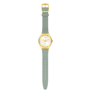 SWATCH GREEN MOIRE Ladies watch Green Silicone strap SYXG113