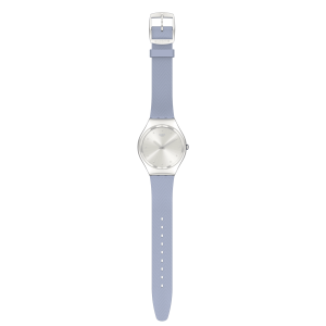 SWATCH BLUE MOIRE Unisex watch Blue Silicone strap SYXS134