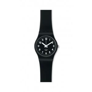 SWATCH LADY BLACK Black silicone strap 12mm ALB170C