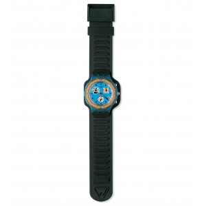 SWATCH TRACKING  Strap rubber black  19mm ASBN400