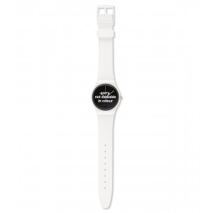 SWATCH NOT AVAILABLE IN COLOUR White Silicone Strap 17mm  AGW165